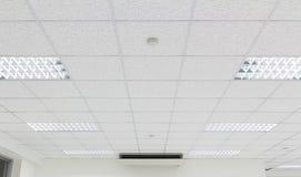Потолок освещая белизну стоковое фото rf