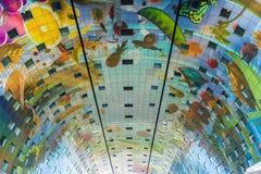Потолок Роттердам Hall рынка Нидерланды Стоковые Фото