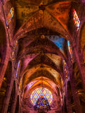 Потолок собора Мальорки Стоковое фото RF
