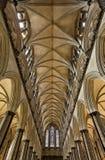Потолок собора Солсбери Стоковая Фотография