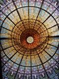 Потолок цветного стекла Стоковые Изображения