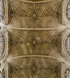 Потолок часовни коллежа ` s короля, Кембриджа Стоковое Фото