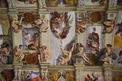Потолок Sistina в vaticano, Риме Стоковая Фотография RF