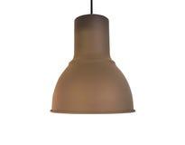 Потолочная лампа меди Брайна на белизне стоковое фото rf