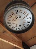 Потолочная лампа сделанная от старого бочонка Стоковая Фотография RF
