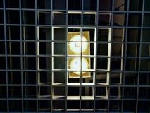 потолочное освещение стиля просторной квартиры Стоковая Фотография
