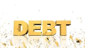 Потратьте задолженность взорвите акции видеоматериалы
