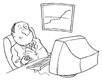 потребитель компьютера Иллюстрация штока
