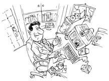 потребитель компьютера Бесплатная Иллюстрация