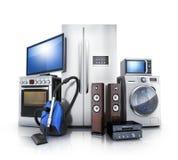 Потребитель и домашняя электроника иллюстрация штока