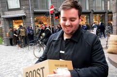 Потребитель с моделью SPLY-320 ботинка Kenny западной Стоковые Фото