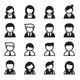 Потребитель, человек, женщина, комплект значка бизнесмена Стоковые Фотографии RF