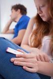 потревоженное подростковое девушки Стоковая Фотография RF