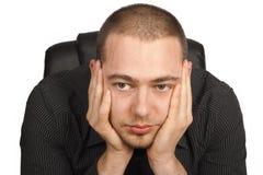 Потревоженный бизнесмен Стоковые Фото
