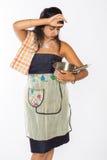 Потревоженный индийский шеф-повар Стоковые Фото