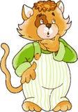потревоженный кот Стоковые Изображения RF