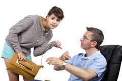 Потревоженный отец и последняя дочь Стоковые Изображения