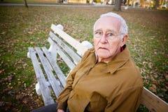 Потревоженный пожилой человек Стоковые Фото