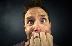 Потревоженный человек стоковая фотография