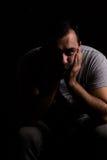 потревоженный человек Стоковое Изображение RF