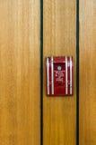 потревожьте дым путя пожара детектора клиппирования изолированный изображением Стоковая Фотография