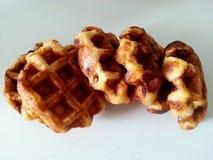 Потрясающие бельгийские waffles сахара Стоковая Фотография