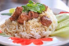 Потушенная говядина с рисом Стоковая Фотография RF