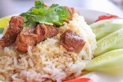 Потушенная говядина с рисом Стоковые Фото
