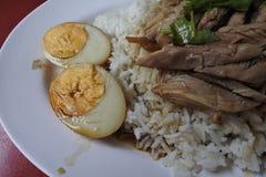 потушенный рис свинины ноги Стоковое Фото