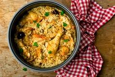 потушенный рис цыпленка Стоковое фото RF