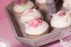 Поты украшения таблицы десерта Стоковое Фото