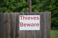 Похитители остерегают предупреждающий знак безопасностью Стоковое Фото