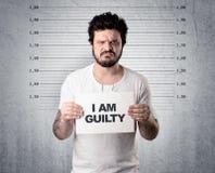 Похититель в тюрьме стоковое изображение rf