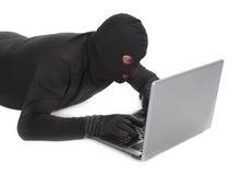 похититель компьтер-книжки данных стоковая фотография rf