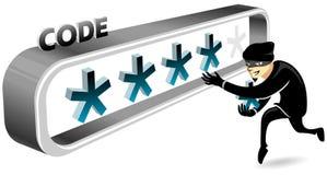 Похититель пароля иллюстрация вектора