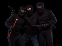 Похитители в масках стоковая фотография rf