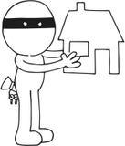 Похититель держа дом Стоковые Фотографии RF