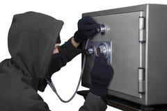 Похититель раскрывает замок комбинации Стоковая Фотография RF