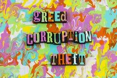 Похищение коррупции жадности стоковая фотография rf