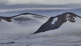 Поход Skalli - Landmannalaugar, короткий трек близко к горячие источники стоковые фотографии rf