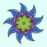 похожая на Звезд орнаментальная картина Стоковые Изображения RF