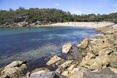 Похожий на раковину пляж Стоковое Изображение RF