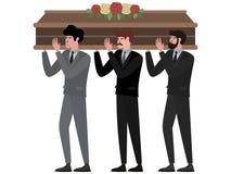 Похоронная церемония, люди носит гроб r бесплатная иллюстрация
