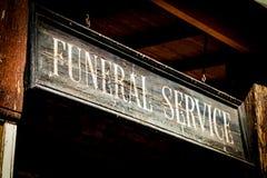 Похоронные услуги Стоковое фото RF