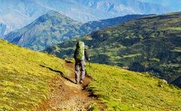 Поход в боливийских горах Стоковые Фото