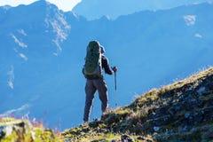 Поход в боливийских горах Стоковая Фотография RF