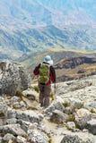 Поход в боливийских горах Стоковое Изображение