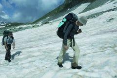 Поход в горах Стоковое Изображение RF