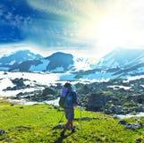 Поход в горах Стоковые Изображения RF