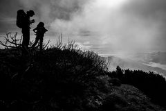 Поход горы осени Стоковое фото RF